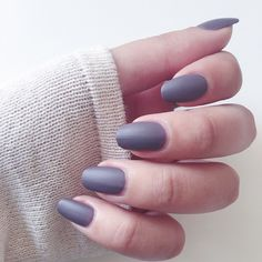 Keep it cool with a matte gray mani.