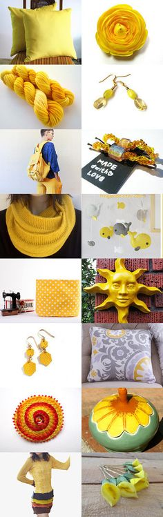 yellow finds by Jessica and Bryan King on Etsy--Pinned with TreasuryPin.com