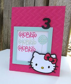 Sweet n Spiffy Hello Kitty Birthday Party Invitation--this would make a good birthday card as well