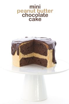 This mini Low Carb Chocolate Peanut Butter Layer Cake is the perfect small batch recipe. Keto THM Banting Atkins Recipe