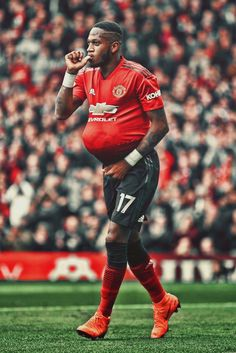 Fred on his first UTD goal One Love Manchester United, Manchester United Players, Soccer Stars, Man United, First Love, The Unit, Football, Goal, Pictures