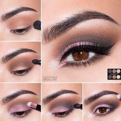 """Maryam Maquillage: Spring Smokey Eye with """"French Nude"""" Palette Brown Eye Makeup Tutorial, Makeup Tutorial Step By Step, Eye Tutorial, Makeup For Brown Eyes, Eyeliner, Makeup Lessons, Eye Makeup Steps, Pinterest Makeup, Eye Make Up"""