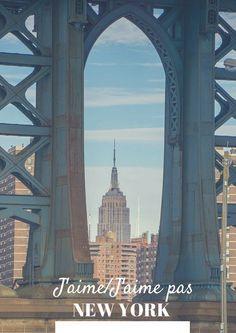 J'aime New York mais pas tout New York. Enthousiasme modéré après 3 jours passés là-bas.