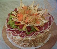 slaný dort s bramborovými růžemi