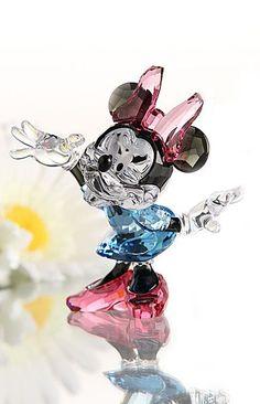 Swarovski Crystal Disney Collection, Minnie Mouse by celia Mickey Mouse And Friends, Mickey Minnie Mouse, Disney Mickey, Walt Disney, Swarovski Crystal Figurines, Swarovski Crystals, Disney Figurines, Glass Figurines, Disney Jewelry