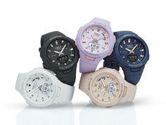 BSA-B100-2A | PRODUCTS | CASIO - BABY-G Amazing Watches, Cool Watches, Women's Watches, Wrist Watches, Baby G Shock, Kpop Merch, Casio Watch, Luxury Watches, Fashion Watches
