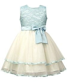 Take a look at this Jayne Copeland Blue Lace & Cream Tulle Bow Fit & Flare Dress - Toddler & Girls today! Cute Outfits For Kids, Toddler Girl Outfits, Toddler Dress, Toddler Girls, Little Girl Dresses, Girls Dresses, Flower Girls, Flower Girl Dresses, Anchor Dress