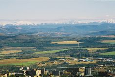 2004 - photo taken from Steiltes in Nelspruit. You can see the city centre with the snow covered mountains of Lydenburg at the back - courtesy of Dewald Nel South Africa, Centre, Snow, River, Mountains, History, City, Outdoor, Outdoors