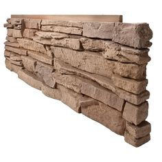 GenStone Stacked Stone Desert Sunrise 12 in. x 38 in. Faux Stone Siding Corner Panel Right at The Home Depot - Mobile Faux Stone Veneer, Faux Stone Siding, Faux Stone Panels, Home Depot, Newel Post Caps, Dry Stack Stone, Bed Linen Online, Up House, Best Interior Design