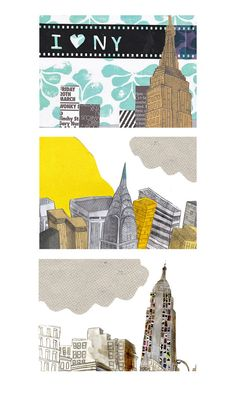 I Love NY by Emma Block http://emmablock.co.uk/About-Me #illustration #new_york_city #art #collage