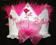 Birthday Hat Hot Pink Marabou Personalized