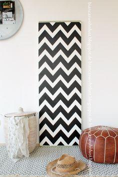 Zelfde paneel, ander behang en styling. Op dit blog nog veel meer leuke ideeën met een paneel - Bianca's Wohnlust