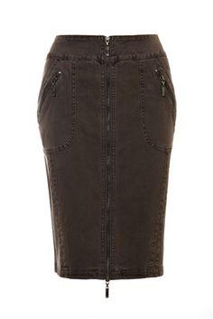 Plus Size Skirt/ Curvy Fashion Signature heavyweight stretch denim fabric