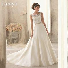 New Pure White/Ivory Lace Wedding Dress Customize Organza Wedding Dresse