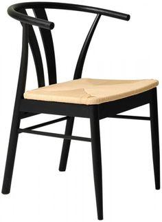 Delta Stol Svart metall, sits natur - Möbler - Folkhemmet.com Chiba, Wishbone Chair, Furniture, Beige, Home Decor, Kitchen, Decoration Home, Cooking, Room Decor