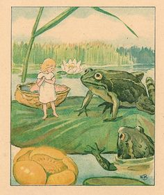 Tommelise/Thumbelina by H.C. Andersen (1805-1875)  illustrated by Elsa Beskow (1874-1953)