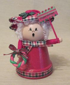 Clay Pot Crafts for Christmas | Clay Pot Mrs Claus | Crafts - Terra Cotta Pots