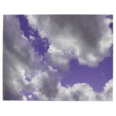 Purple Cloudy Sky Puzzle