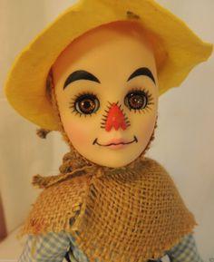 Wizard of Oz Straw Man Vintage Effanbee Doll, 11 IN, All Original