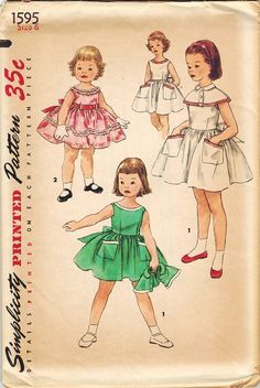 50s Party DRESS Sewing Pattern Size 6 B24
