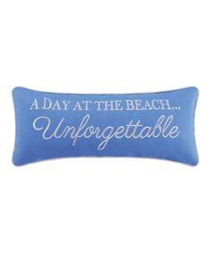 Look what I found on #zulily! Blue Paradise 'Unforgettable' Throw Pillow #zulilyfinds