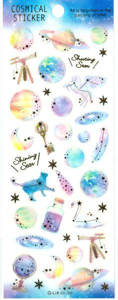 Kawaii Japan Sticker Sheet Assort Cosmical Series: by mautio
