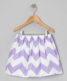 Take a look at this Waistin' Away White & Purple Zigzag Skirt - Infant, Toddler & Girls on zulily today!
