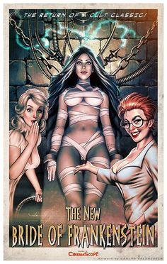 """The """"New"""" Bride Of Frankenstein •Carlos Valenzuela"""