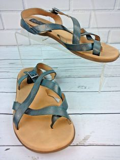 Western Chief Gia Women/'s Flip Flop Sandals Brown//Teal Criss Cross Choose Size