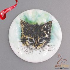 CHARMING FRIDGE MAGNET CAT WALL DECOR DIY WHITE STONE ZR3000299 #ZL #PENDANT