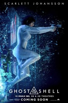 Ghost in the Shell Scarlett Johansson leaps into action in a new poster.
