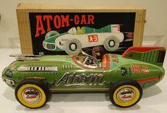 c.1955 Yonezawa  #153 Atom Race Car in Original Box Tin Litho EXCELLENT RARE Toy