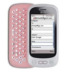 pics of white and pink QWERTY keybOARD PHONES | ... CELL PHONES, NEW LG TOWN GT350 WHITE / PINK QWERTY GSM UNLOCKED