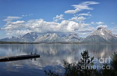 This is a gorgeous view of Jackson Lake and the Grand Tetons in Wyoming. There is something so special about the Grand Tetons. I went as a young girl, and came away so deeply impressed and returning there was not disappointed.