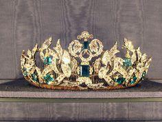 """""""MIS JOYAS REALES"""": Tiara de Esmeraldas Rosenborg - Casa Real de Dinamarca"""