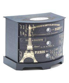 Another great find on #zulily! Black Eiffel Tower Three-Drawer Jewelry Box by Tri-Coastal Design #zulilyfinds