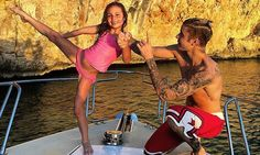 Justin Bieber helps little sister Jazmyn with her kickboxing practice