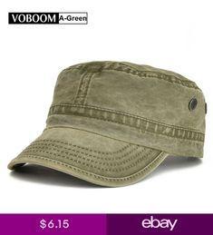 8310f04a2c2 VOBOOM Mens Army Cap Trucker Baseball Cap Retro Cotton Distressed Snapback  Green. Hats For ...