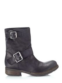 Buy Taupe Jigsaw Marco Buckle Biker Slip-On Leather Ankle Boots from our Women's Shoes & Boots Offers range at John Lewis & Partners. Black Leather Boots, Black Ankle Boots, Black Booties, Ankle Booties, Flat Heel Boots, Heeled Boots, Shoe Boots, Black Heels Low, Black Shoes