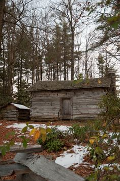 #3 The Tatum Cabin at Hickory Ridge Living History Museum prepares for its 232nd winter.