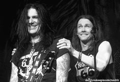 Myles Kennedy and Todd Kerns, from southern Saskatchewan, pretty cool someone from sask gets to tour with slash!!