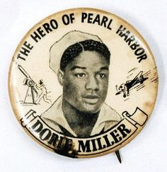 """Doris """"Dorie"""" Miller was a cook in the US Navy noted for his bravery during the attack on Pearl Harbor on December He was the first African American to be awarded the Navy Cross. A ship's cook on the battleship West Virginia during Pearl. Black History Facts, Black History Month, Doris Miller, Kings & Queens, Les Aliens, Navy Cross, Pearl Harbor Attack, Illuminati, Interesting History"""