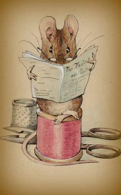 this fits in around here. mice, needles for beading, scissors. yep. looks like home.