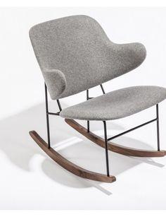 Dublin Rocking Chair |  Light Gray | Modern Furniture • Brickell Collection