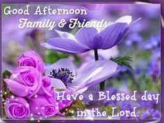 Good Afternoon Family & Friends afternoon good afternoon afternoon blessings afternoon greeting afternoon quote afternoon friend