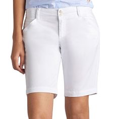 Petite Lee Essential Bermuda Shorts, Women's, Size: 14 Petite, White