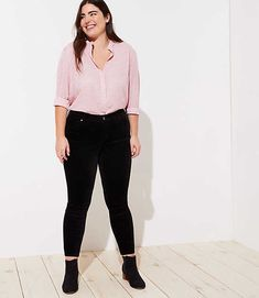 9c9bae088a480 Find sales on LOFT Plus Modern Velvet Skinny Jeans in Black and other  deeply discounted products at Shop Scenes.