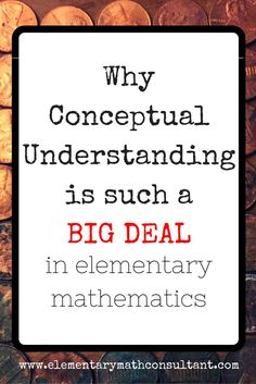 Teachers, parents, and principals, the Common Core asks elementary students to learn math differently than when we learned math. Conceptual understanding is the most important aspect of math we can focus on. Read more here: http://www.elementarymathconsultant.com/conceptual-understanding-big-deal/