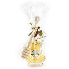 Rosh Hashanah, Shana Tova, Happy Sweet New Year, Kosher Mini Floral Fantasy Honey Bottle + Honey Dipper Favor Bag 5 Pack. amazon.com  OK Certified Kosher, Made in Israel