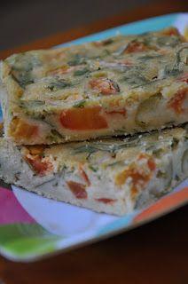 Torta de liquidificador vegan (salsinha, tomates e azeitonas)